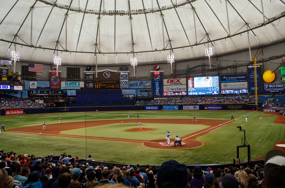 Tropicana Field in Tampa Florida